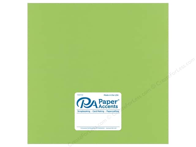 Paper Accents Cardstock 12 in. x 12 in. Stash Builder 65 lb Green Apple (25 sheets)