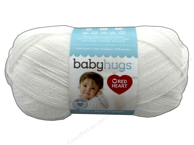 Red Heart Baby Hugs Light Yarn 247 yd. #3001 Frosting