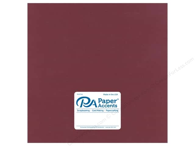Paper Accents Cardstock 12 in. x 12 in. Stash Builder 65 lb Wine (25 sheets)
