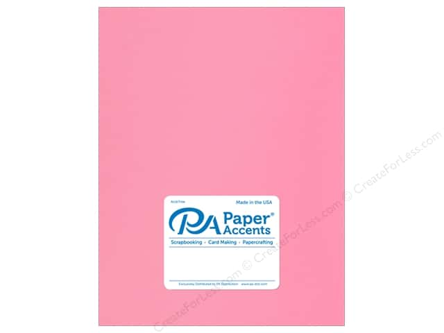 Paper Accents Cardstock 8.5 in. x 11 in. Stash Builder 65 lb Hot Rose (25 sheets)