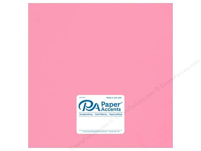 Paper Accents Cardstock 12 in. x 12 in. Stash Builder 65 lb Hot Rose (25 sheets)