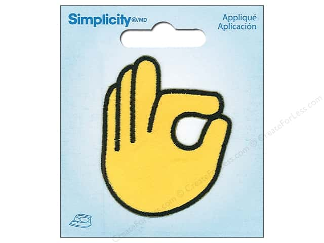 Simplicity Applique Iron On OK Emoji
