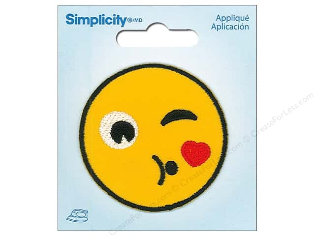 Simplicity Applique Iron On Throwing Kiss Emoji
