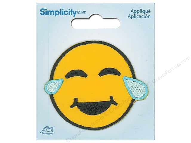 Simplicity Applique Iron On Crying Emoji