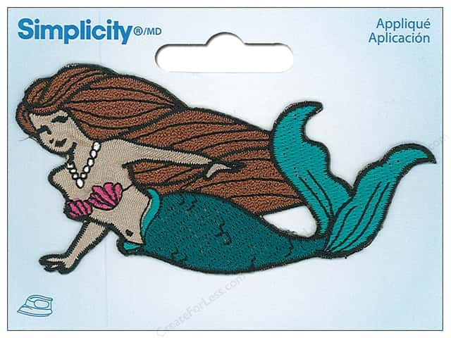 Simplicity Applique Iron On Mermaid