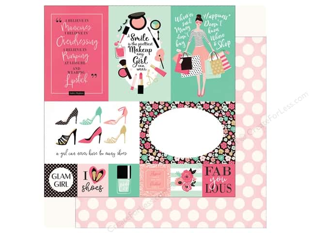 Echo Park Fashionista Paper 12 in. x 12 in.  Journal Card Multi (25 pieces)