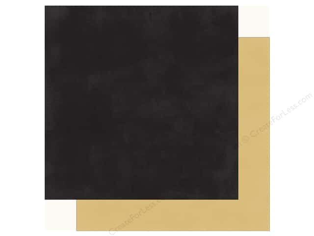 Echo Park Fashionista Paper 12 in. x 12 in. Black/Gold (25 pieces)