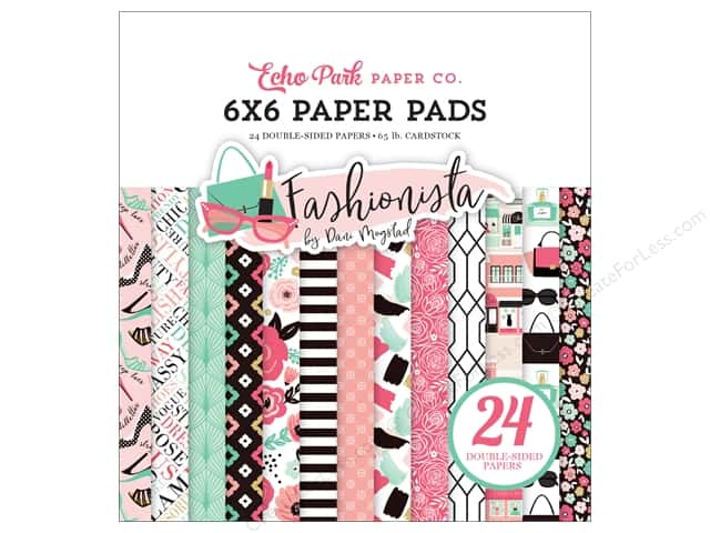 Echo Park Fashionista Paper Pad 6 in. x 6 in.