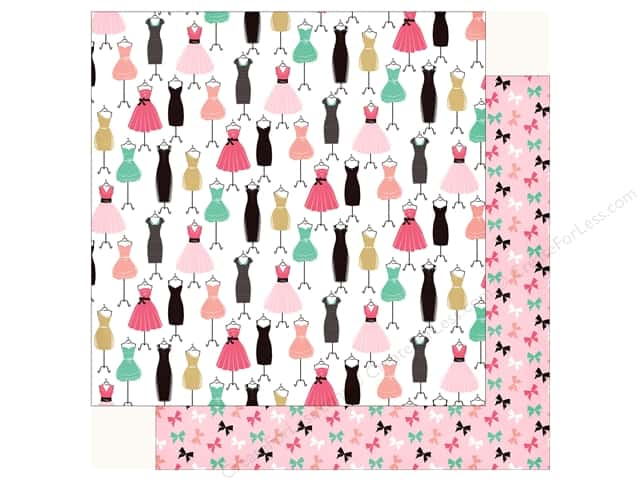Echo Park Fashionista Paper 12 in. x 12 in.  Dress For Success (25 pieces)