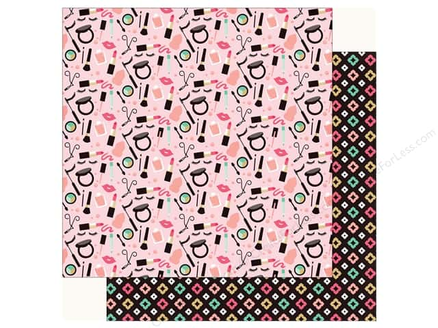 Echo Park Fashionista Paper 12 in. x 12 in.  Make Up Time (25 pieces)