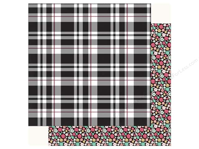 Echo Park Fashionista Paper 12 in. x 12 in.  Playful Plaid (25 pieces)