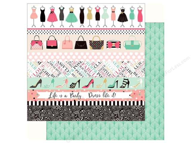 Echo Park Fashionista Paper 12 in. x 12 in.  Border Strips (25 pieces)