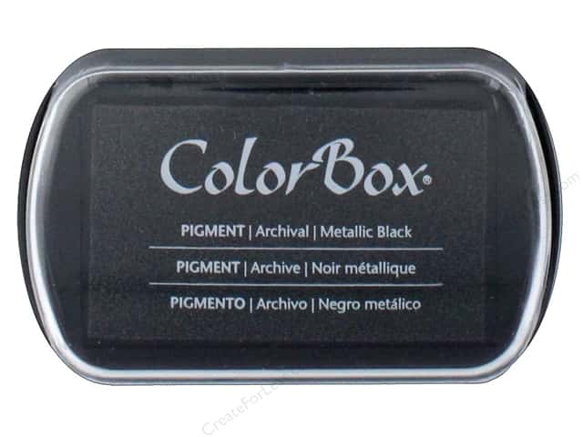 ColorBox Pigment Ink Pad Full Size Metallic Black