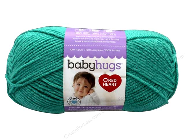 C&C Red Heart Baby Hugs Yarn Medium 4.5 oz Aloe