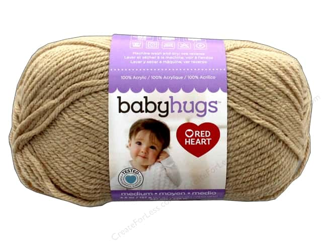 Red Heart Baby Hugs Medium Yarn 247 yd. #4315 Teddy