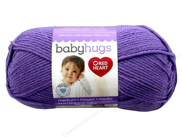 C&C Red Heart Baby Hugs Yarn Medium 4.5 oz Lilac