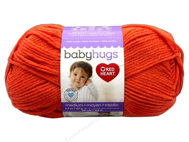 Red Heart Baby Hugs Medium Yarn 247 yd. #4255 Orangie