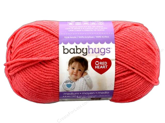 Red Heart Baby Hugs Medium Yarn 247 yd. #4258 Peachie