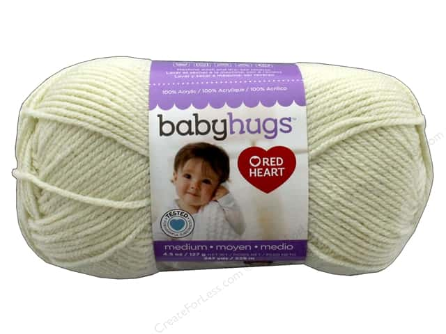 C&C Red Heart Baby Hugs Yarn Medium 4.5 oz Shell