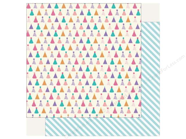 Echo Park Happy Birthday Girls Paper 12 in. x 12 in. Party Hats (25 pieces)