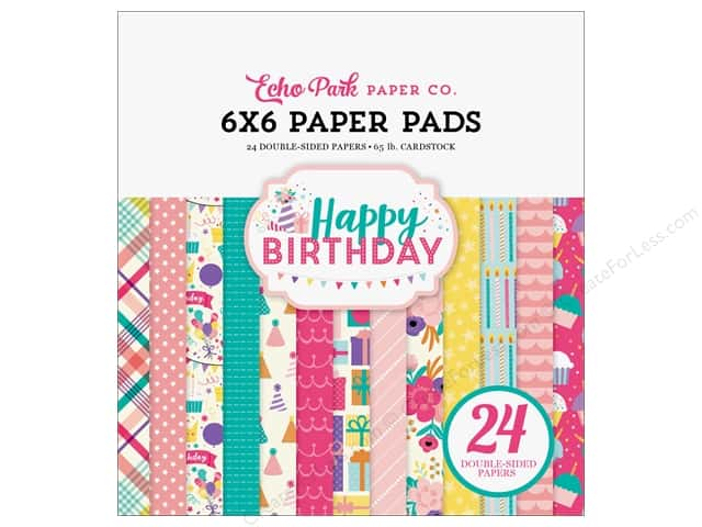 Echo Park 6 x 6 in. Paper Pad Happy Birthday Girls