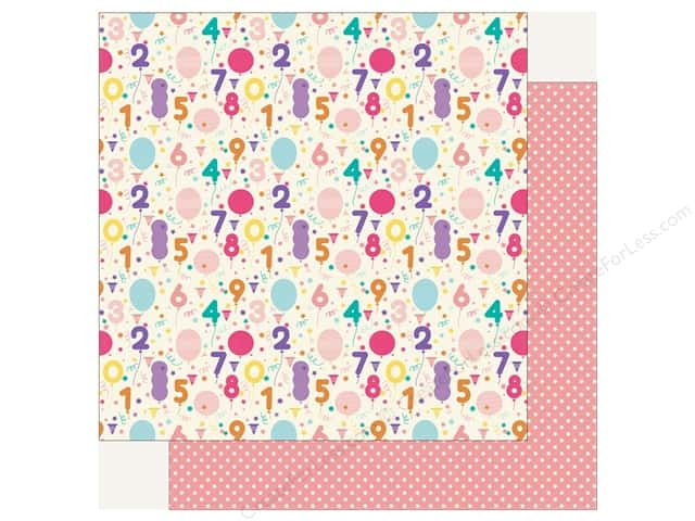 Echo Park Happy Birthday Girls Paper 12 in. x 12 in. Birthday Countdown (25 pieces)