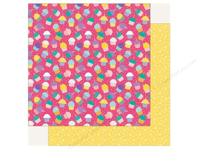 Echo Park Happy Birthday Girls Paper 12 in. x 12 in. Cupcake Party (25 pieces)