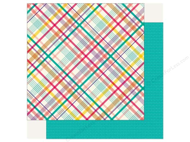 Echo Park Happy Birthday Girls Paper 12 in. x 12 in. Party Plaid (25 pieces)