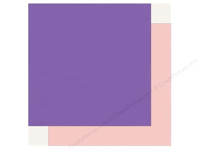 Echo Park Happy Birthday Girls Paper 12 in. x 12 in. Purple/Light Pink (25 pieces)