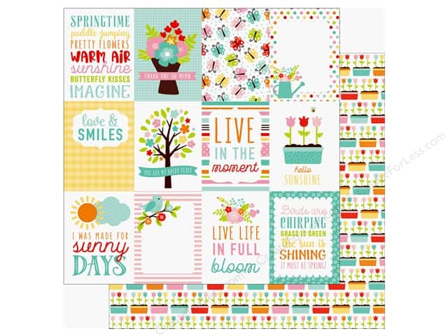 Echo Park Hello Spring Paper 12 in. x 12 in. Journaling Cards 3 in. x 4 in. (25 pieces)