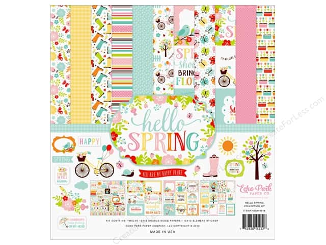 Echo Park Hello Spring Collection Kit 12 in. x 12 in.