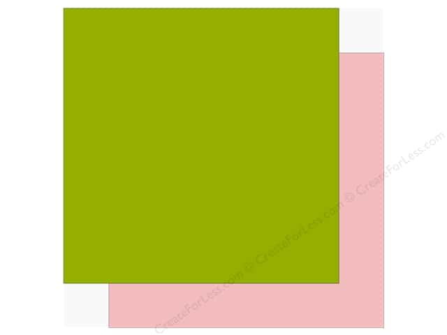 Echo Park Sweet Baby Girl Paper  12 in. x 12 in.  Green/Light Pink (25 pieces)