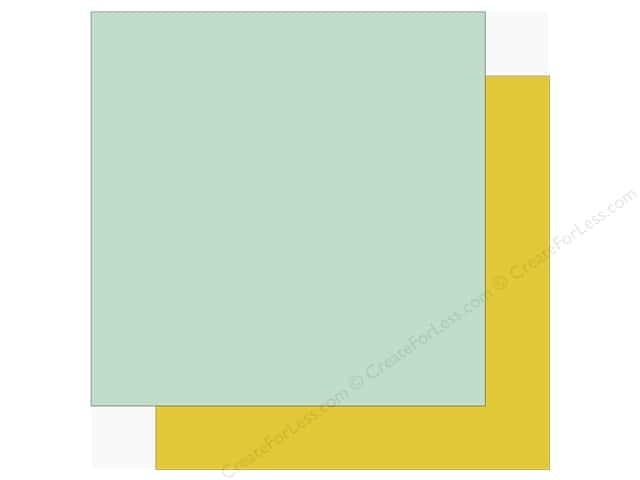 Echo Park Sweet Baby Girl Paper  12 in. x 12 in. Blue/Yellow (25 pieces)