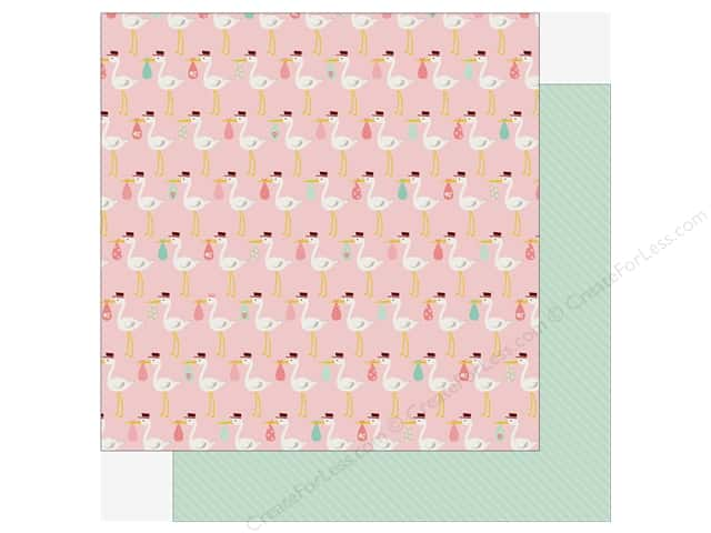Echo Park Sweet Baby Girl Paper  12 in. x 12 in. Special Delivery (25 pieces)