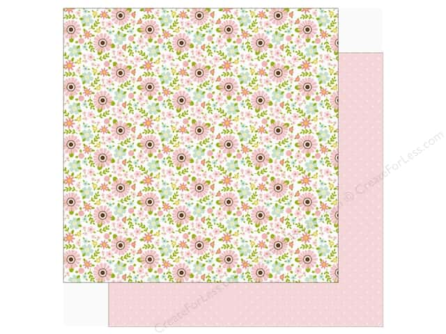 Echo Park Sweet Baby Girl Paper  12 in. x 12 in. Baby Floral (25 pieces)
