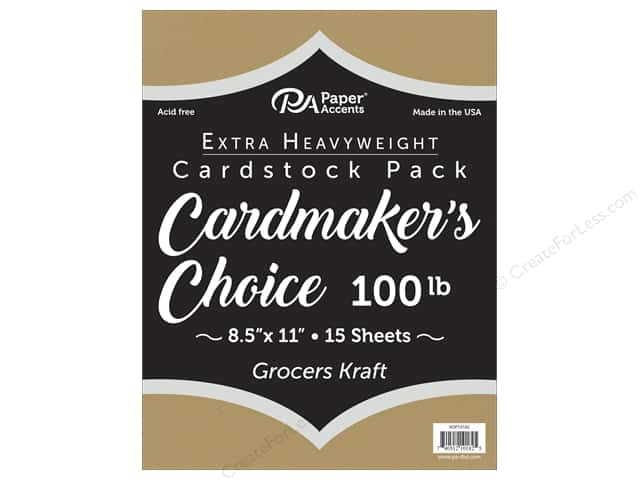 Paper Accents Cardstock 8.5 in. x 11 in. Cardmakers Choice 100 lb Grocers Kraft 15 pc