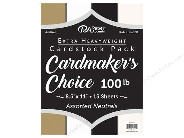 Paper Accents Cardstock 8.5 in. x 11 in. Cardmakers Choice 100 lb Neutrals 15 pc