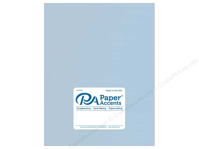 Paper Accents Cardstock 8.5 in. x 11 in. Stash Builder 65 lb Blue Frost (25 sheets)