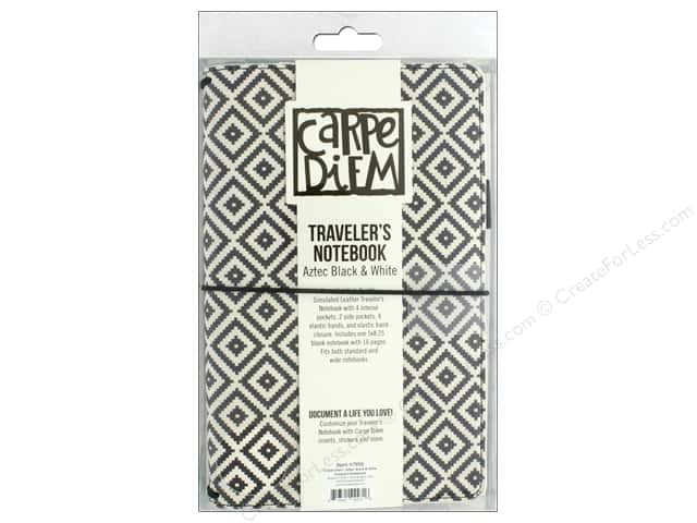 Simple Stories Carpe Diem GoodVibes Traveler Notebook Aztec Black and White