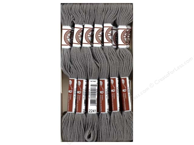 DMC Matte Cotton Embroidery Thread Dk Beaver Gray (12 skeins)