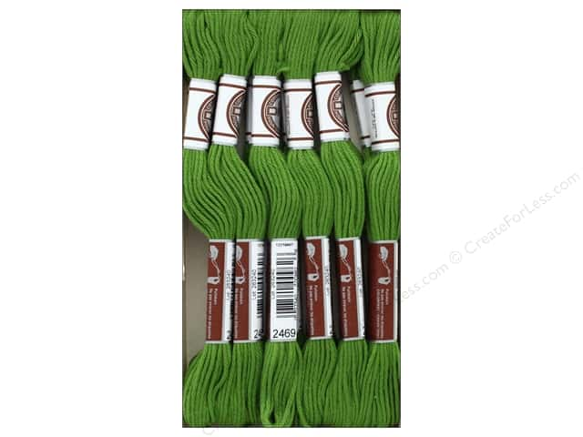 DMC Matte Cotton Embroidery Thread Avocado Green (12 skeins)