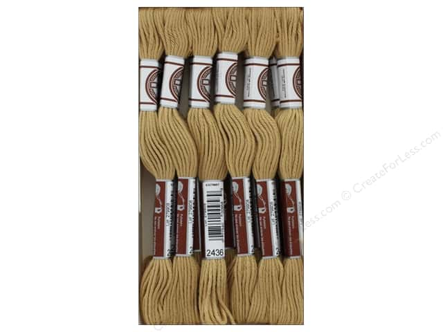 DMC Matte Cotton Embroidery Thread Tan (12 skeins)