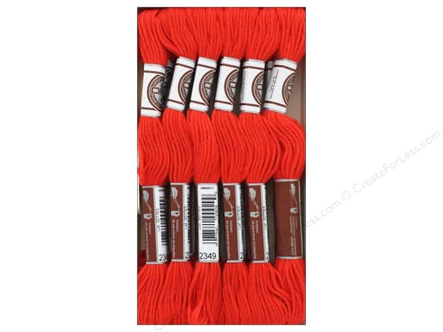 DMC Matte Cotton Embroidery Thread Very Dk Burnt Orange (12 skeins)