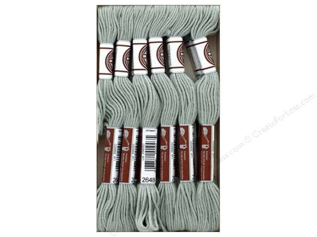 DMC Matte Cotton Embroidery Thread Very Lt Beaver Gray (12 skeins)