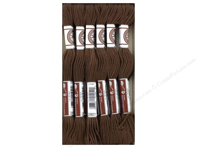 DMC Matte Cotton Embroidery Thread Dk Coffee Brown (12 skeins)