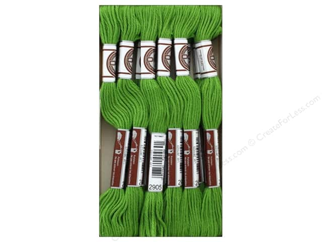DMC Matte Cotton Embroidery Thread Dk Parrot Green (12 skeins)