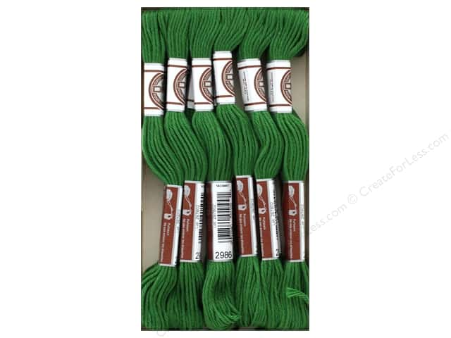 DMC Matte Cotton Embroidery Thread Very Dk Forest Green (12 skeins)