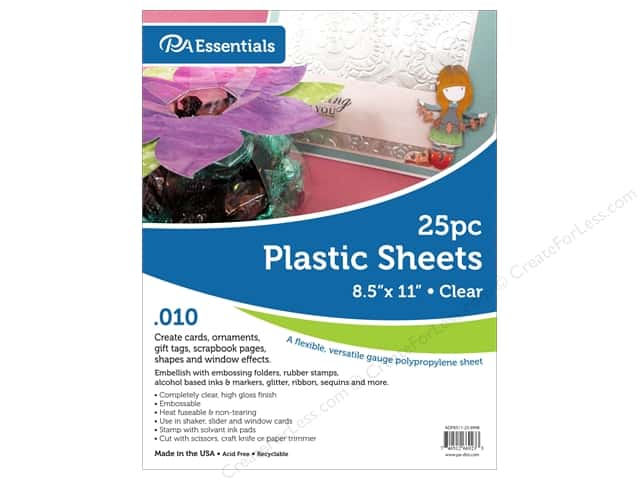 Paper Accents Plastic Sheet 8 1/2 x 11 in. .01 in. Clear (25 sheets)