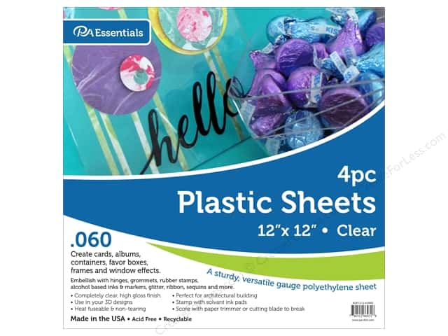 "Paper Accents Plastic Sheet 12 in. x 12 in. .060"" Clear 4 pc"