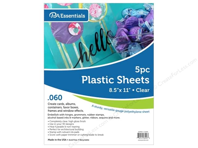 Paper Accents Plastic Sheet 8.5 in. x 11 in. .060 in. Clear 5 pc